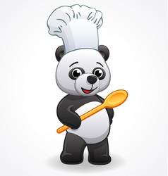 Panda chef cook cartoon character vector