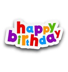 Paper happy birthday sign vector