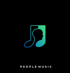 people music template vector image