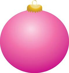 Pink Ball Ornament vector