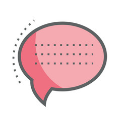 Pink chat bubble communication message vector