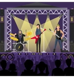 Pop group concert vector image