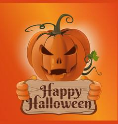 Poster concept design for halloween card vector