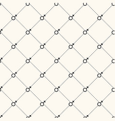 seamless geometric pattern with male gender vector image