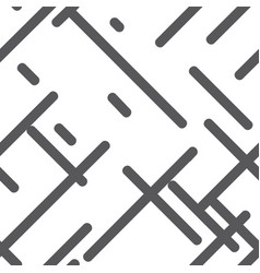 seamless pattern of monochrome geometric vector image