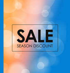 Season discount banner blured background with the vector