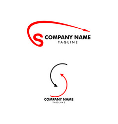 set letter s arrow logo design element vector image