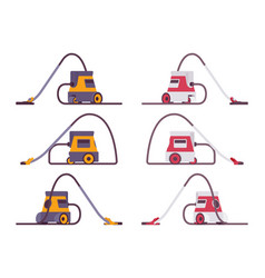 set of portable vacuum cleaner vector image