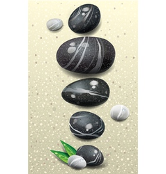 Set of stones vector image
