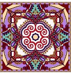 Silk violet colour neck scarf vector