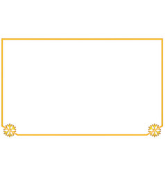 simple golden frame with two corner element vector image