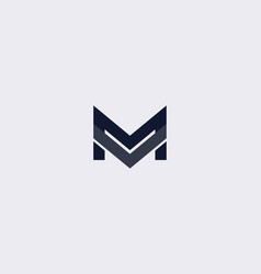 simple letter m logo design template vector image