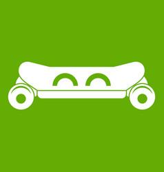 skateboard deck icon green vector image