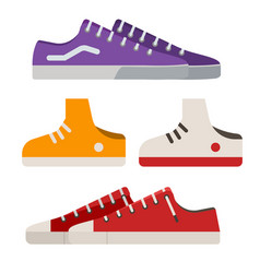 sneakers and gumshoes vector image