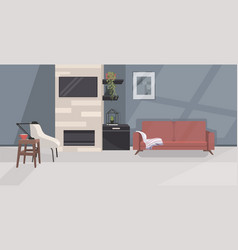 stylish home modern living room interior empty no vector image