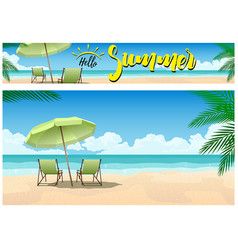 summer paradise on beach vector image