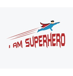 Superhero in his uniform flying forward vector image