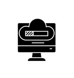 system reboot black icon sign on isolated vector image