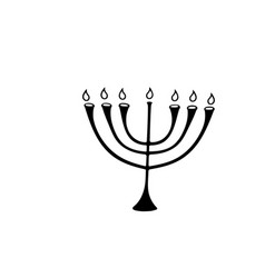 the menorah with star david is a symbol of vector image