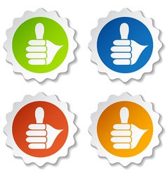 Thumb up rounded labels vector