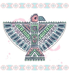 Tribal native ethnic eagle vector