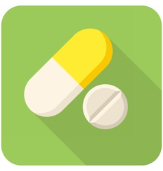 Vitamin pills icon vector