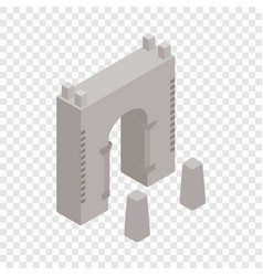 Wall fortress isometric icon vector