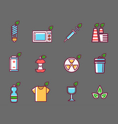 Waste rubbish pollution ecology recycling vector