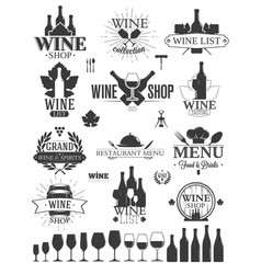 wine labels and logos vector image