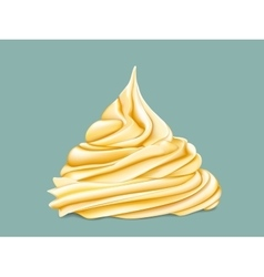Yellow tiered twisted cream vector