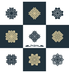 Design Luxury Template Set Swash Elements Art vector image vector image