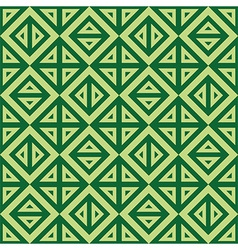 Geometric abstract green pattern seamless vector image vector image