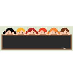 kids holding a blackboard vector image