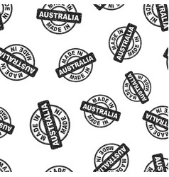 made in australia stamp seamless pattern vector image vector image