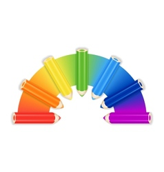 Pencil Rainbow Background Card Or Cover Template vector image