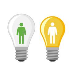 cartoon lamp light bulb design flat vector image