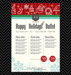 Christmas party festive restaurant menu design vector image vector image