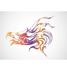 colorful eagle vector image vector image