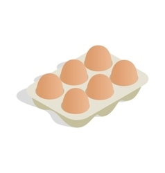 Packaging for eggs icon isometric 3d style vector image vector image