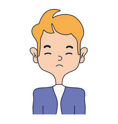 Sleepy man with elegant clothes and hairstye vector
