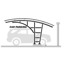 Car parking roofing section vector image