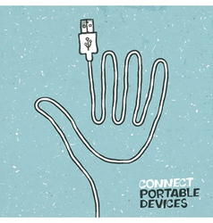 connect portable device concept vector image