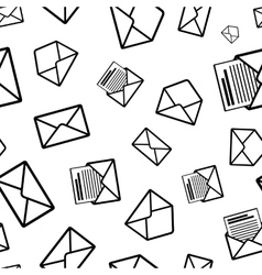 Different envelope black icons on white background vector image vector image