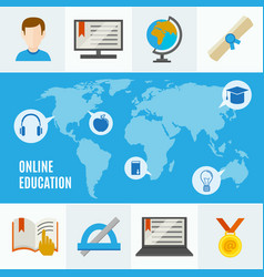 Elearning flat concept vector