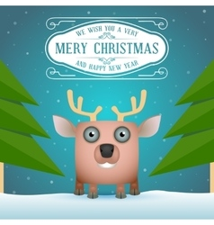 Funny Cartoon Deer vector image