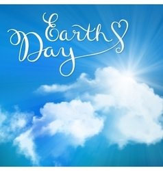 Happy earth day handmade calligraphy vector image