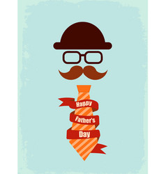 happy fathers day poster vector image vector image
