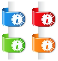 Ribbons with information symbol vector image