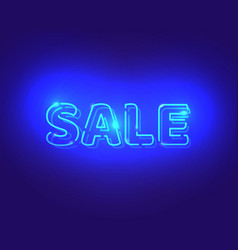sale white neon electric letters vector image