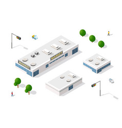 set isometric vector image